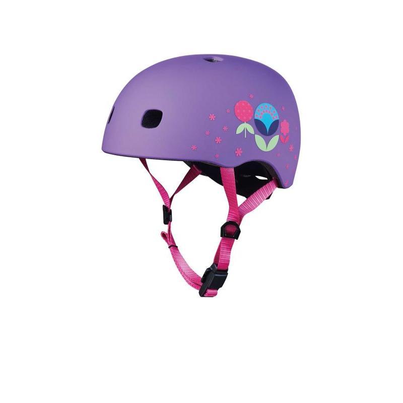 Přilba Micro LED Floral Purple M (52-56 cm)