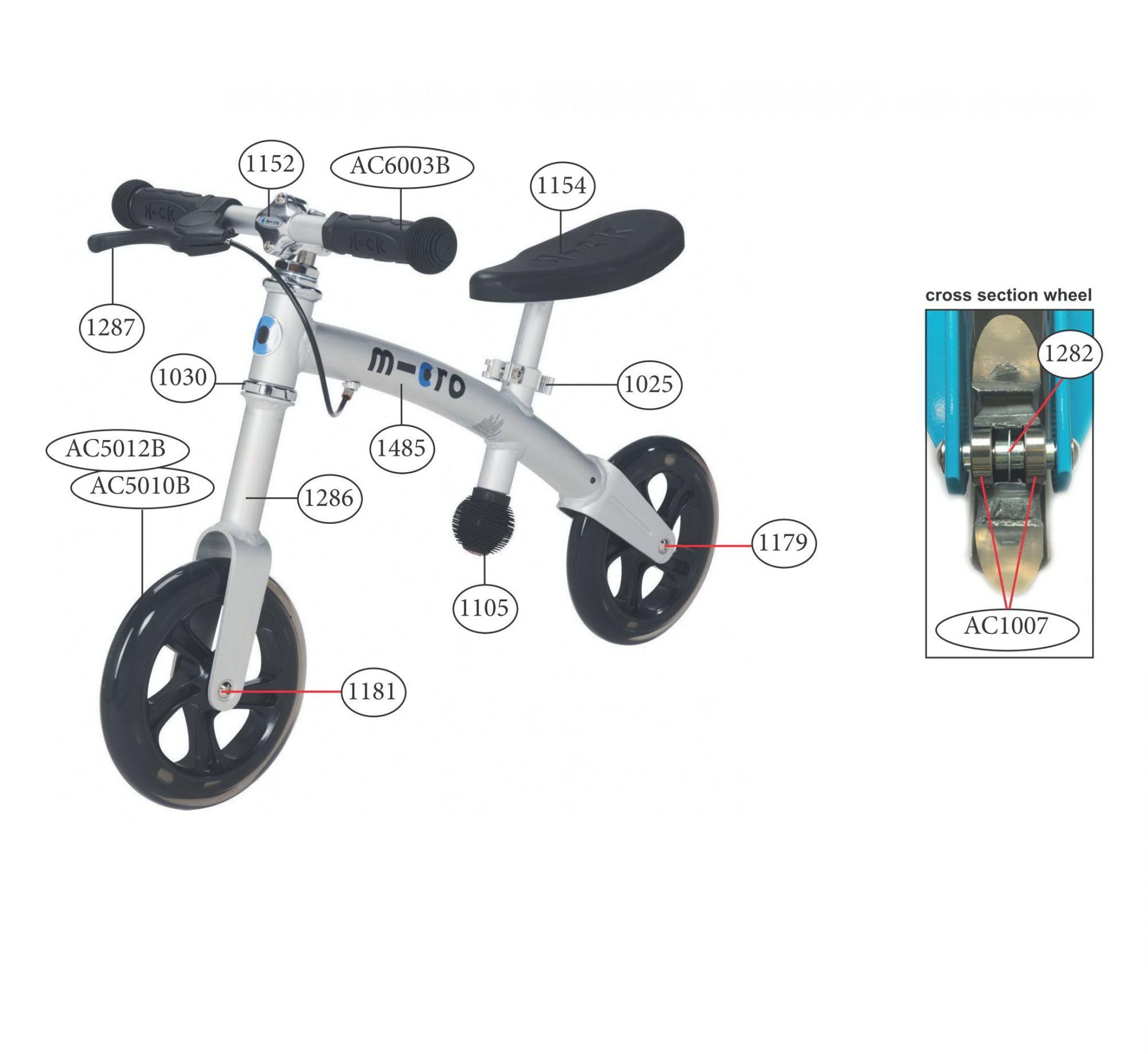 Díly - Díly pro G-Bike+