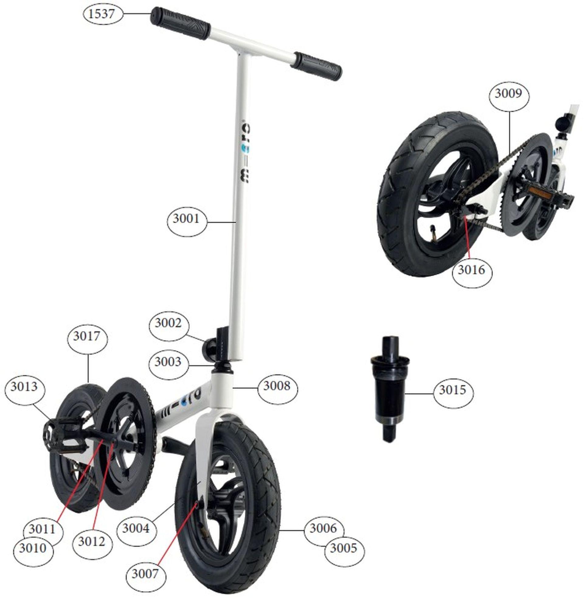 Díly - Díly pro Pedalflow