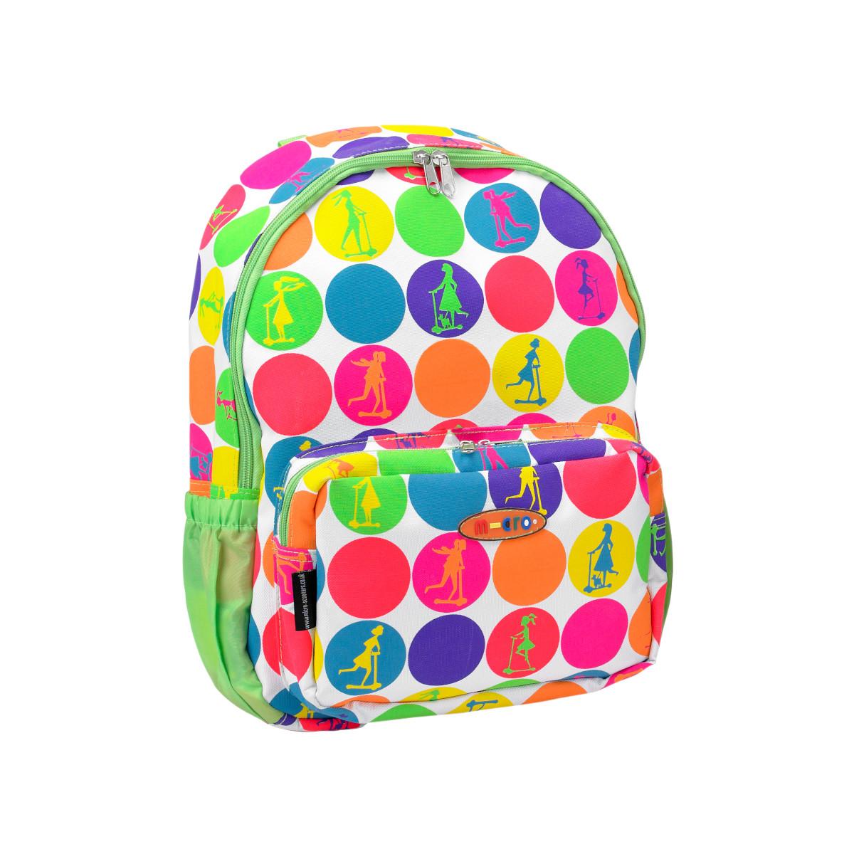 Maxi Micro batoh a svačinová taška - neon dots - 04