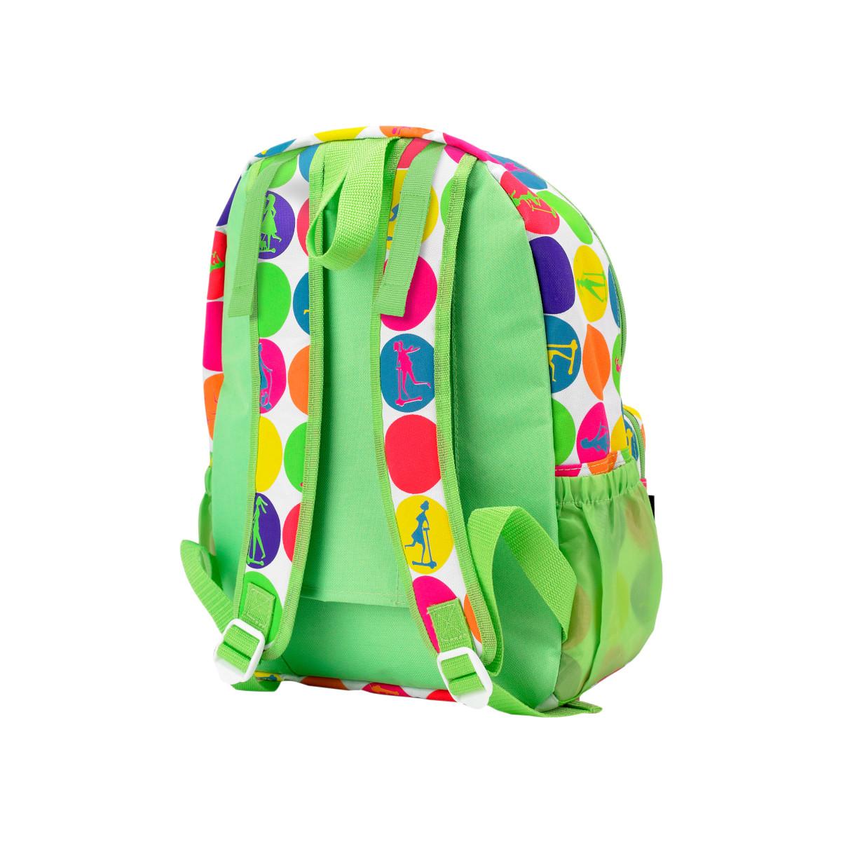 Maxi Micro batoh a svačinová taška - neon dots - 05