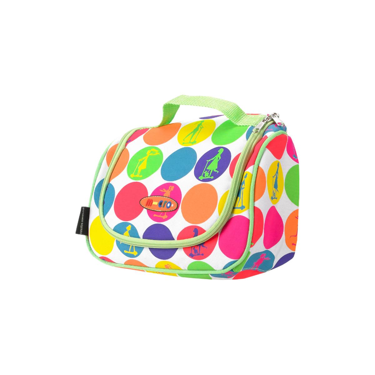 Maxi Micro batoh a svačinová taška - neon dots - 03