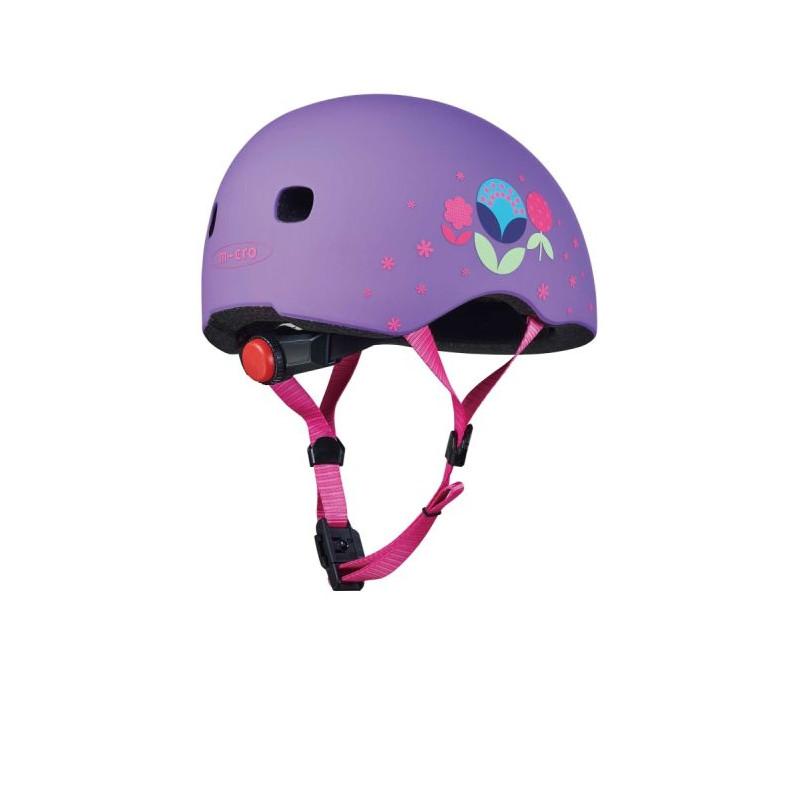 Přilba Micro LED Floral Purple S (48-53 cm) - 02