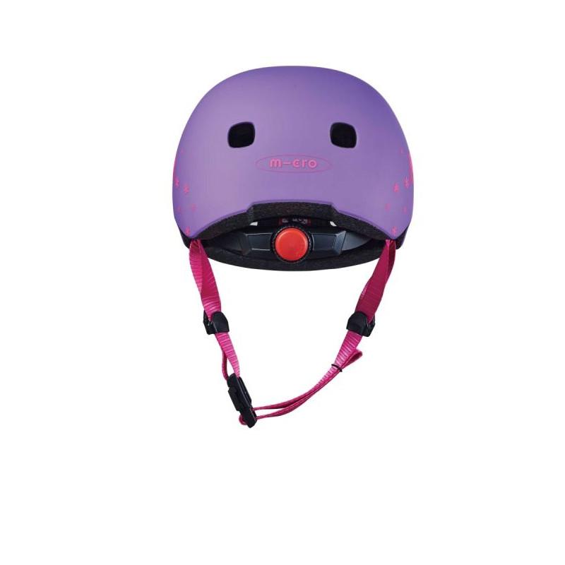 Přilba Micro LED Floral Purple S (48-53 cm) - 03