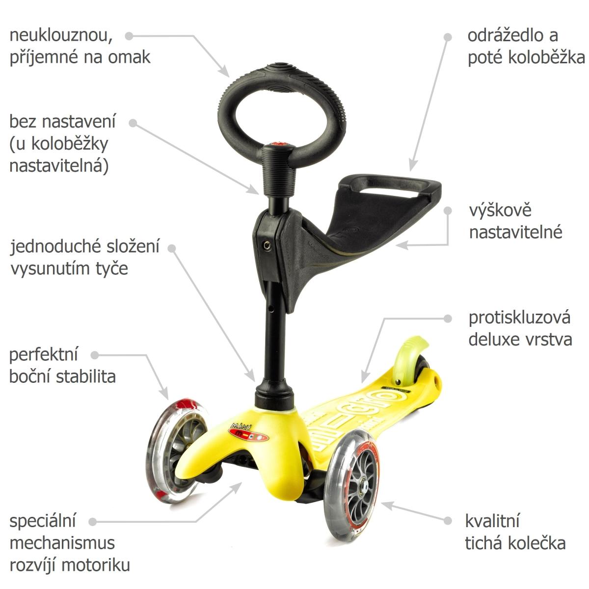 Mini micro Deluxe 3v1 Yellow - 02
