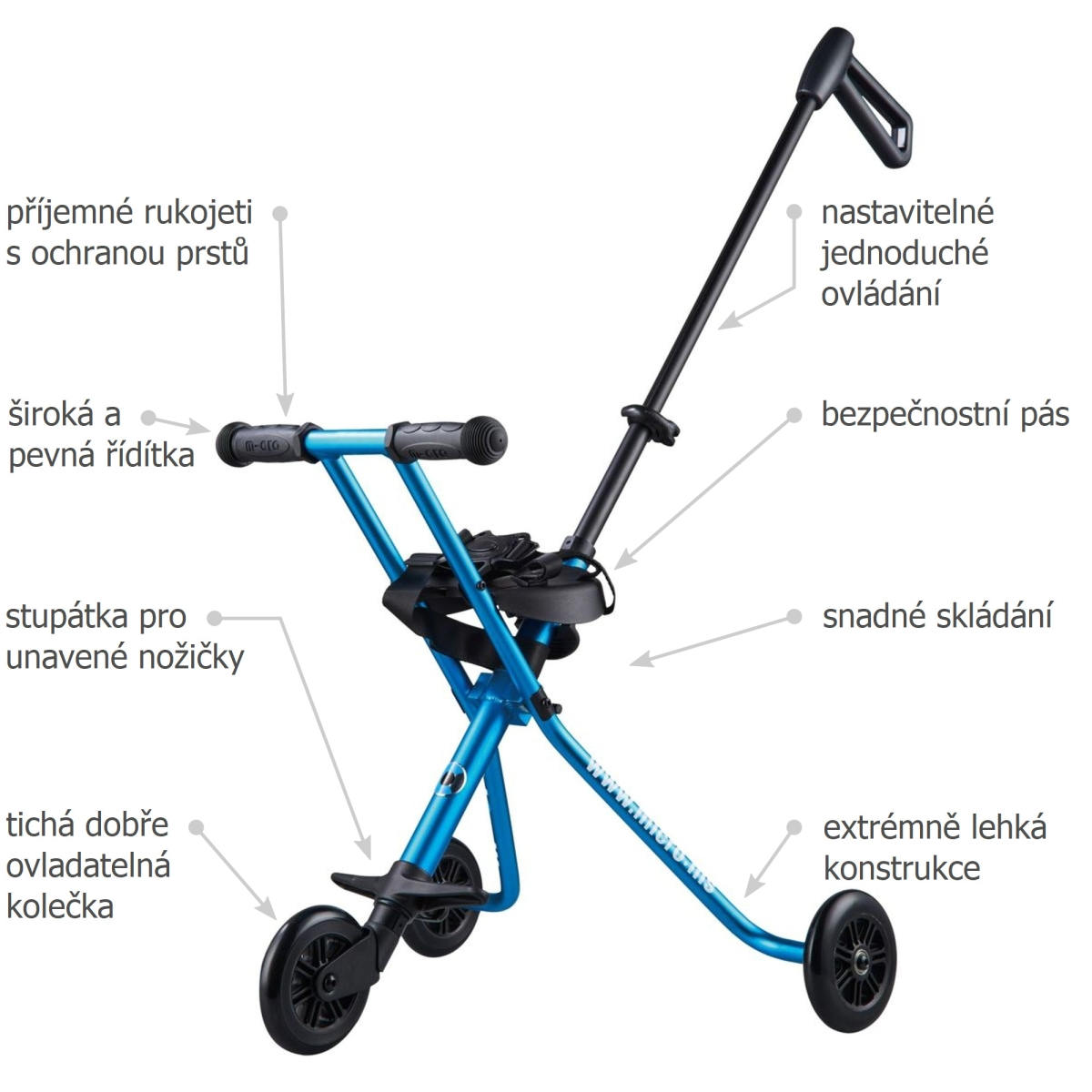 Micro Trike Deluxe Blue - 02