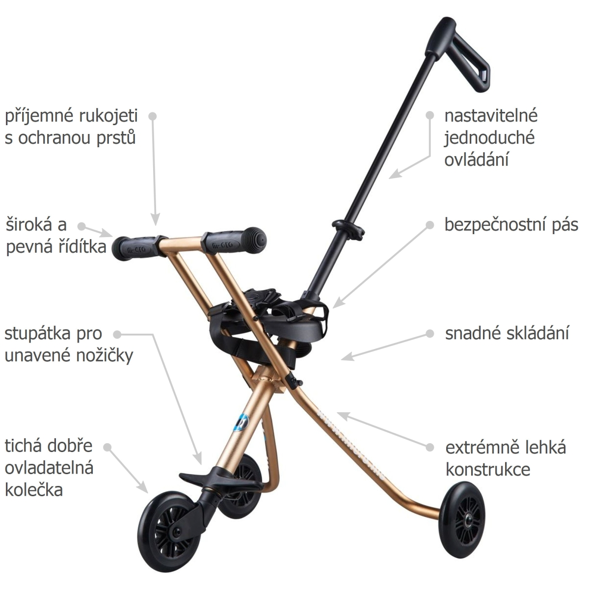 Micro Trike Deluxe Gold - 02