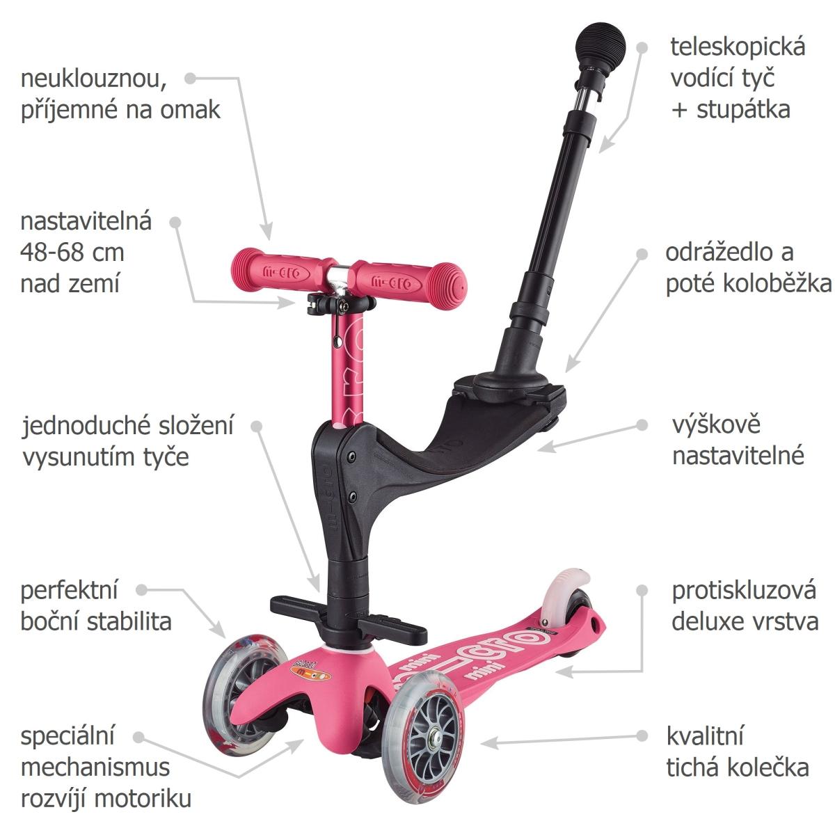 Mini Micro 3v1 Deluxe Plus Pink - 02