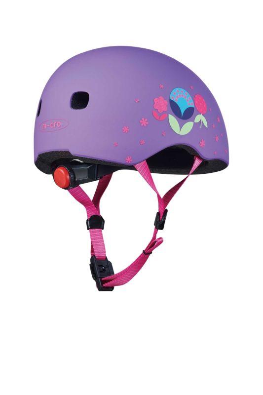 Přilba Micro LED Floral Purple M (52-56 cm) - 02